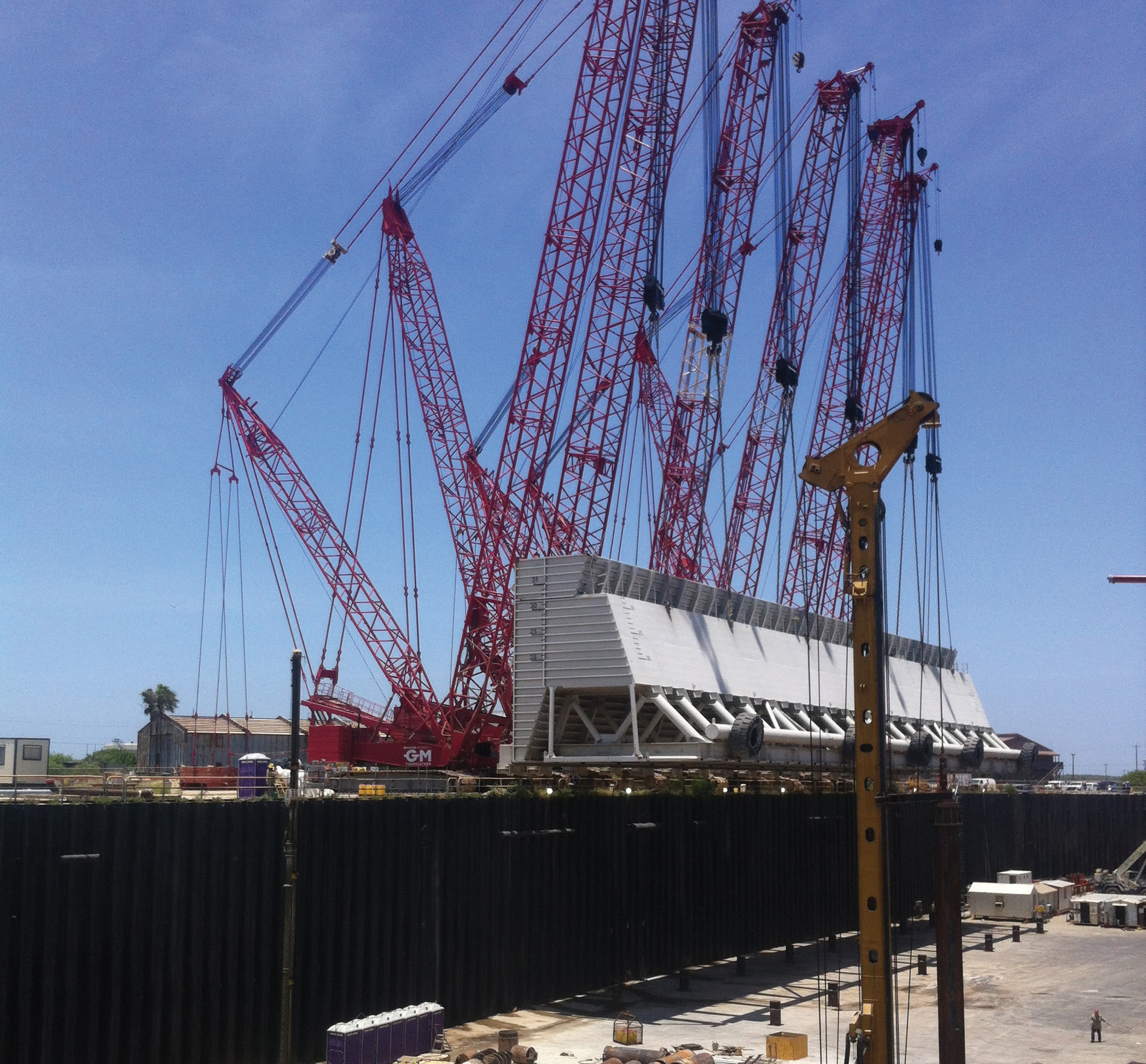 graving dock secant pile wall a h beck foundation co inc